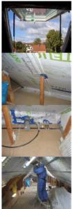 Dachgeschossausbau mit Einblasdämmung